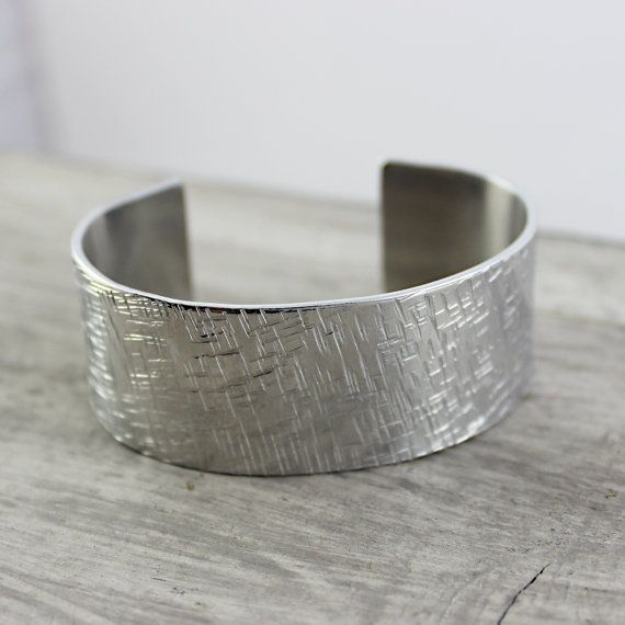 Silver Cuff Bracelet Metal Bangle Bracelet Hammered by starletta, $38.00