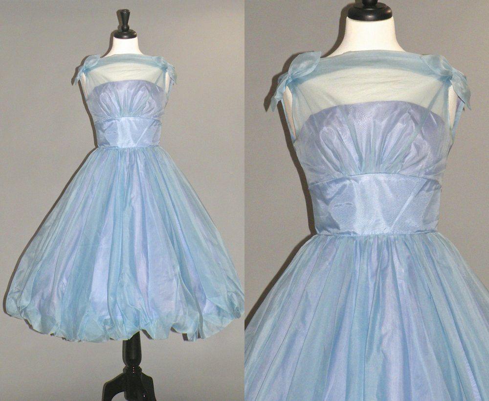 S prom dress bridesmaid dress s blue and purple organza full