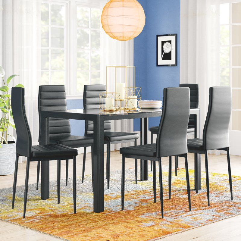 Best Rosenzweig 7 Piece Dining Set Living Room Sets Dining 400 x 300