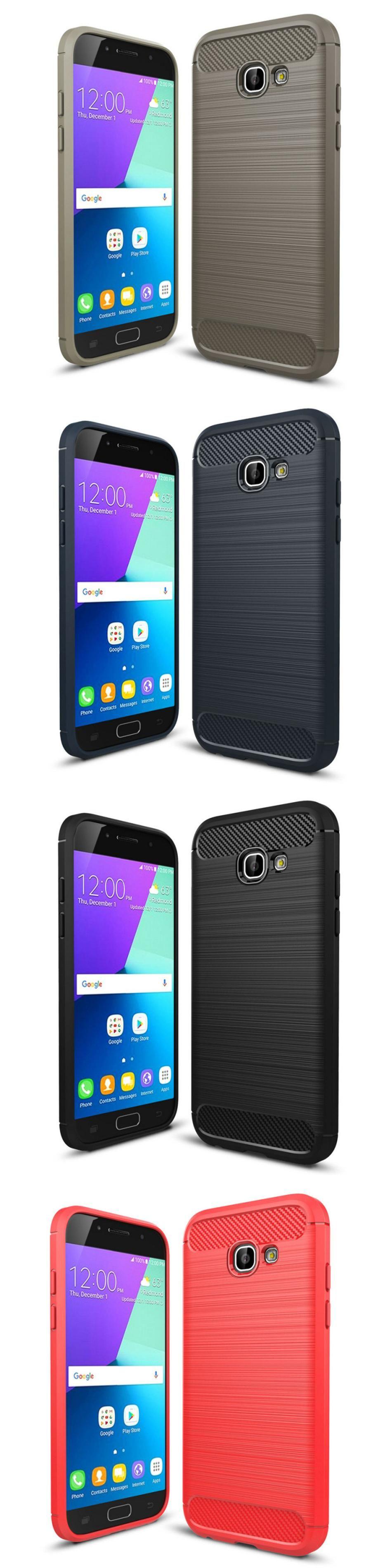 ZUCZUG for Samsung Galaxy A3 A5 A7 2017 A320 A520 A720 Soft Silicone Carbon Fiber Textured
