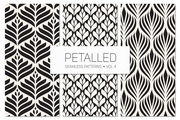Petalled Seamless Patterns Set 4 by Curly_Pat on Creative Market