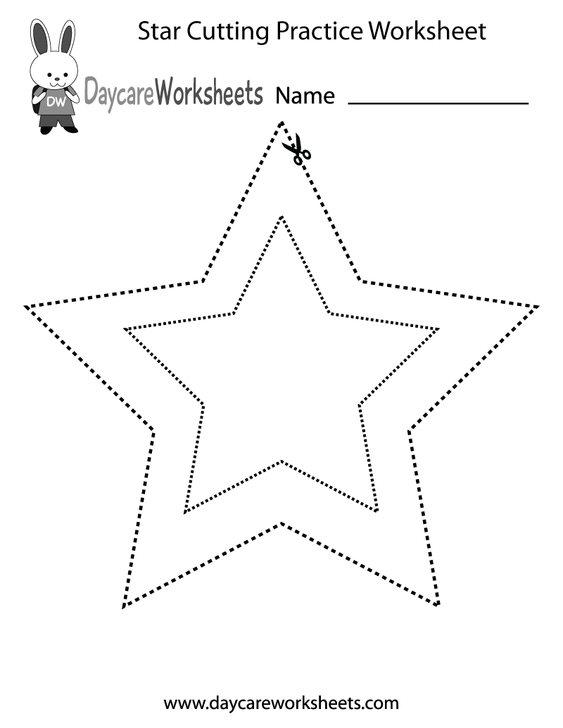 Worksheets Dotted Line Page preschoolers have to use scissors cut along the dotted lines that are in shape of
