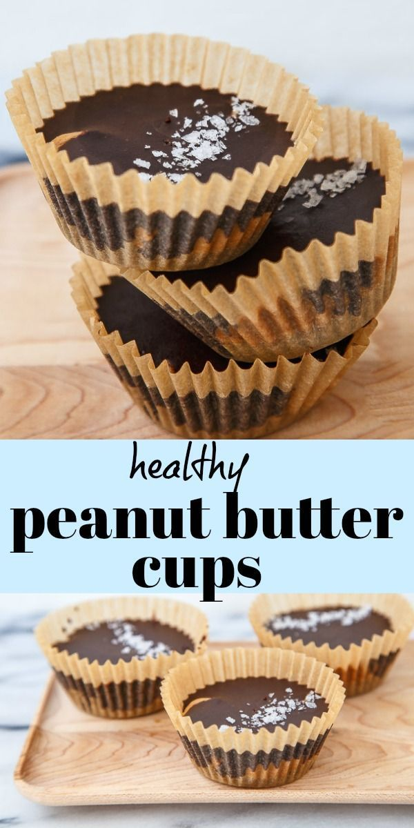 Homemade Peanut Butter Cups (heathy!)   Dessert for Two