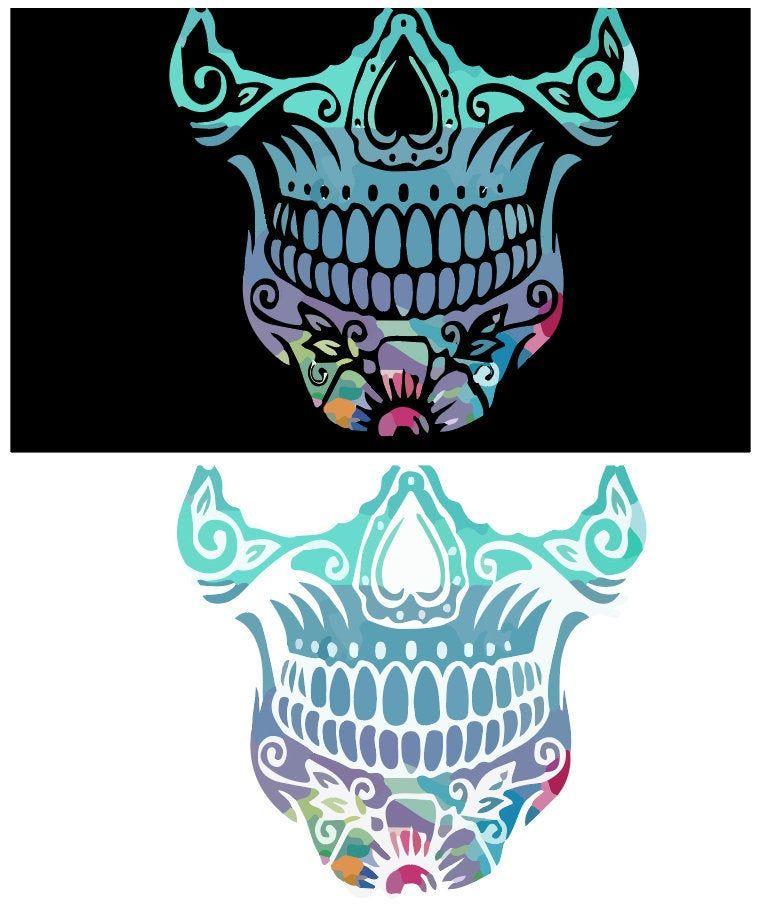 Digital Design Pink Sugar Skull Face Mask Designs Digital Etsy In 2020 Mask Design Sugar Skull Face Skull Face