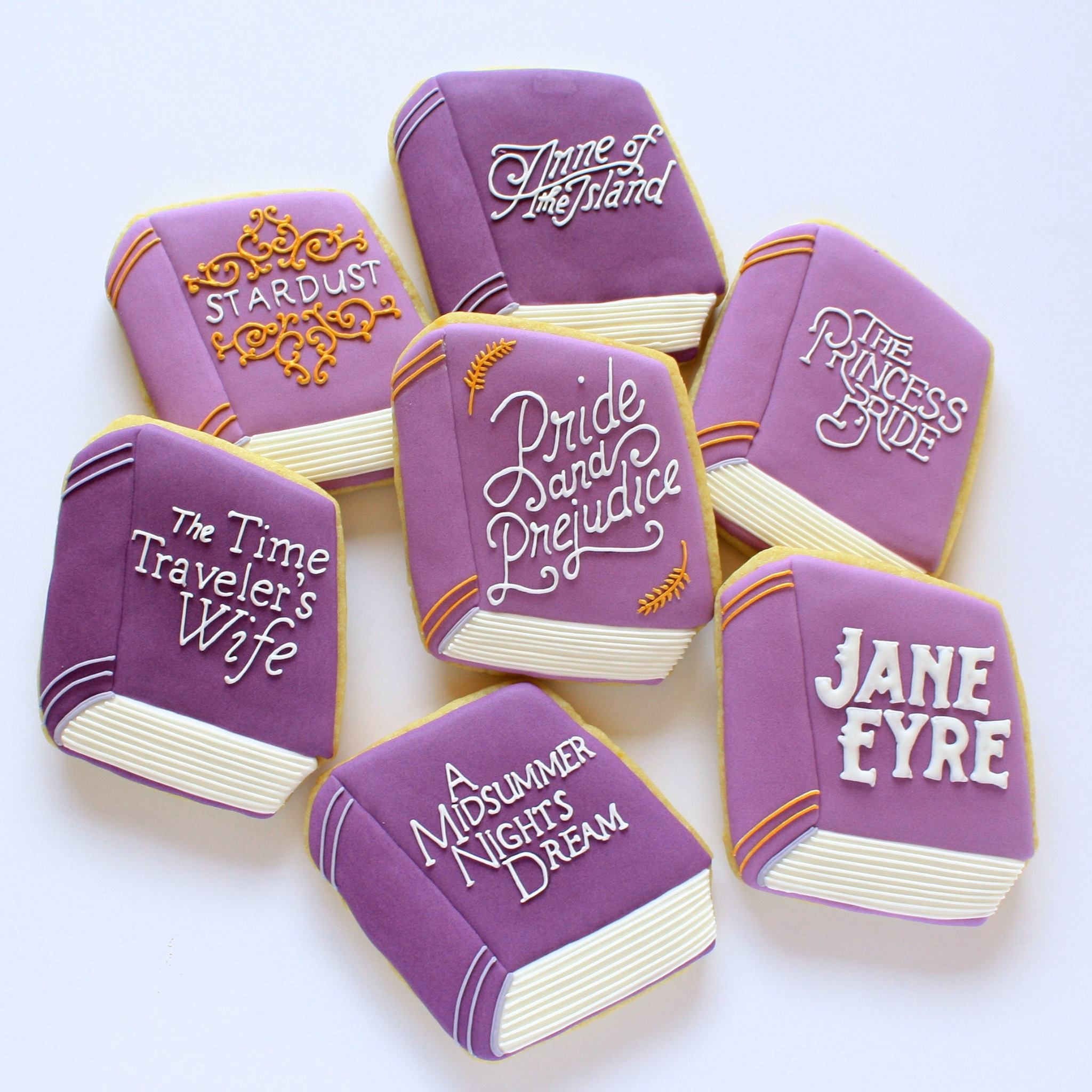 (1) Sweet Pea Cookies - book cookies