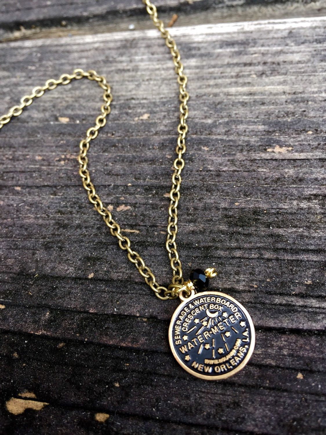 NOLA Watermeter Charm Necklace by ValoisDesigns on Etsy