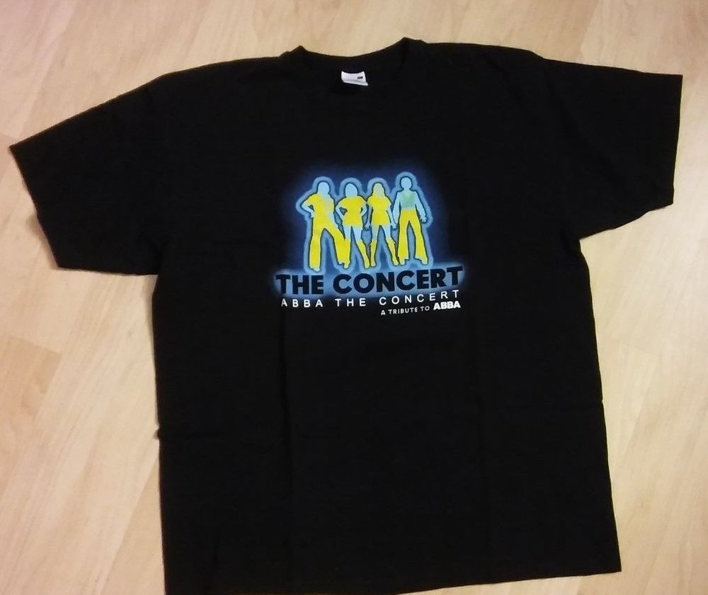 7c26aecd30a3 Abba The Concert Tee - Abba Tribute Swedish Rock Pop Disco Music T Shirt  XLarge