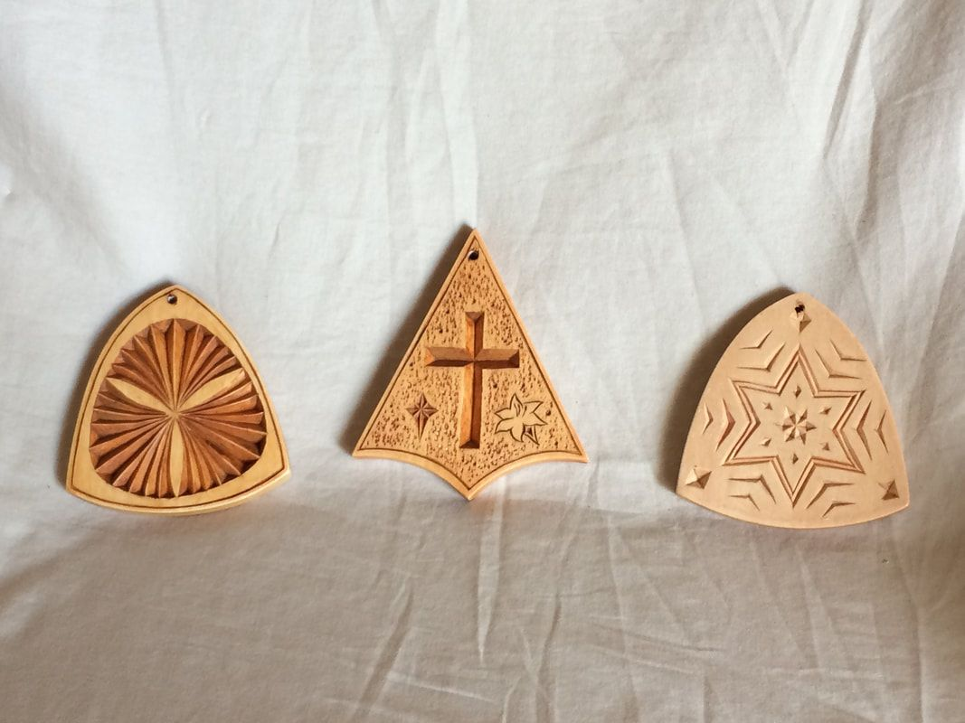 Chip Carved Wood Christmas Ornament Wood Christmas Ornaments Chip Carving Hand Carved