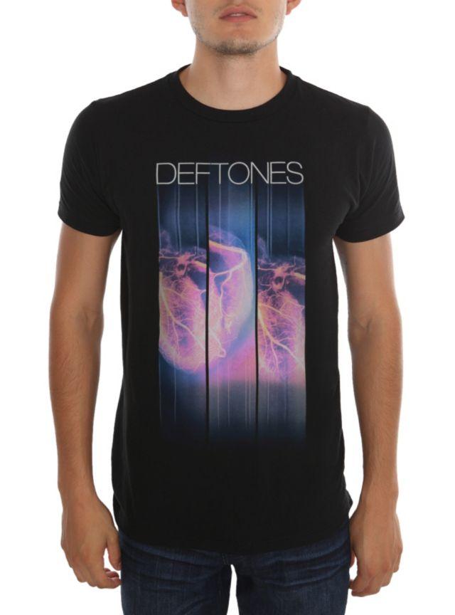 Deftones T-shirt with a veins design. Camisetas De Rock 0e0371a84eadc