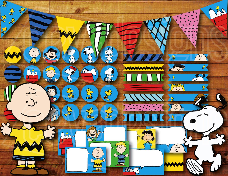 Printable Snoopy Birthday Party Decoration / Peanuts Charlie Brown ...