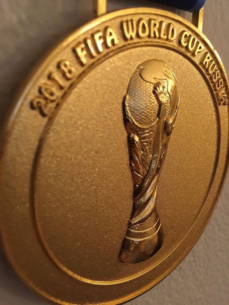 2018 Russia Moscow Fifa World Cup Collectible Medal Souvenir W Ribbon Ebay Esportes