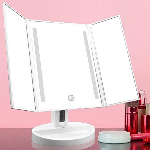 Tischspiegel Mit Beleuchtung | Auxent Kosmetikspiegel Mit Led Beleuchtung Und Touchscreen Aus