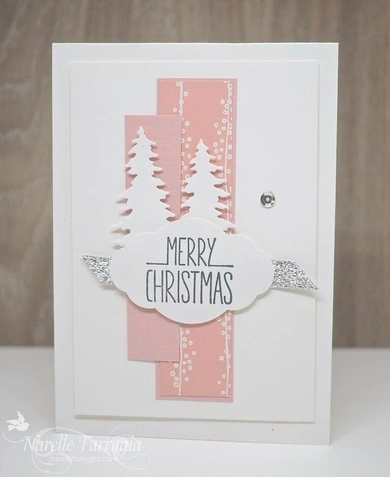Pin By Petra Christophers On Carols Of Christmas Cards Etc Pink Christmas Cards Christmas Card Inspiration Carols Of Christmas Stamp Set