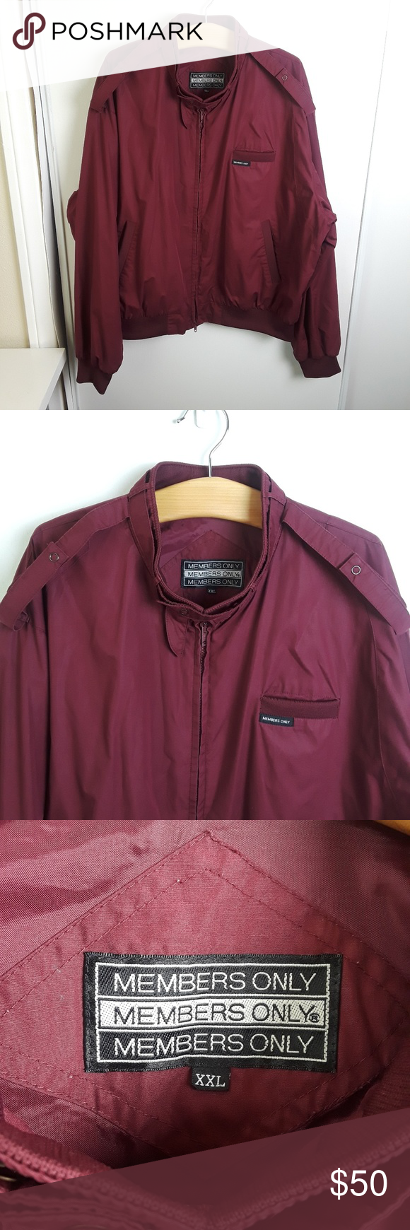 Burgundy Men S Members Only Bomber Jacket Classic Members Only