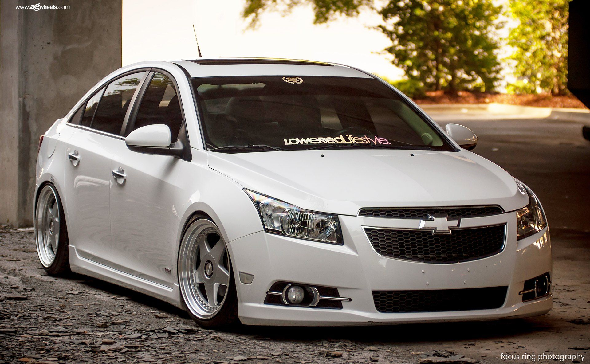 Stanced Chevy Cruze On Classic Style Custom Wheels Chevy Cruze Cruze Chevy Cruze Custom
