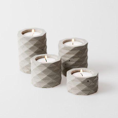 Concrete candle holders | Product design | Concrete design | Beton design | betonlook | www.eurocol.com