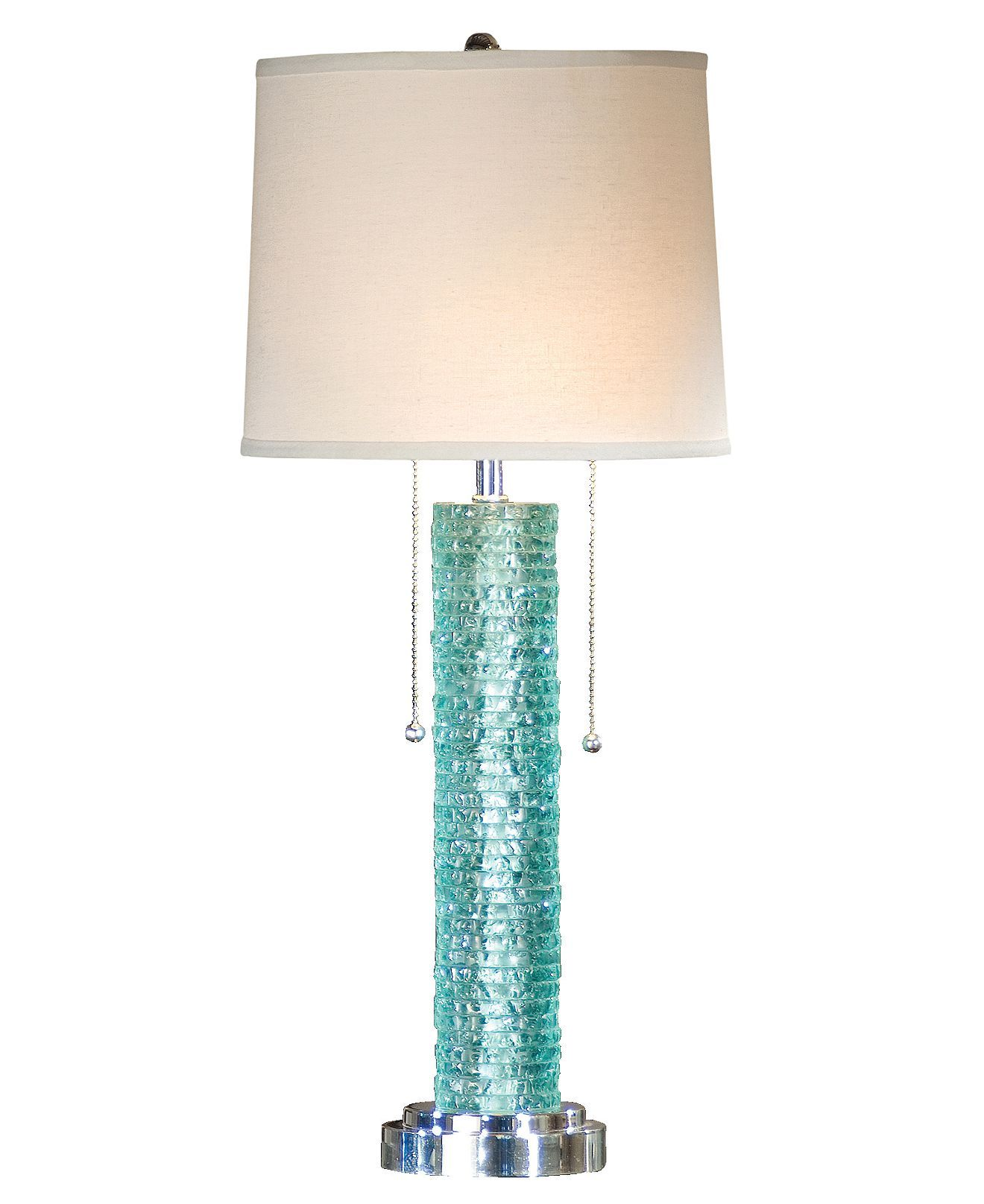 escape table glass shades lamp light of aqua products caribbean