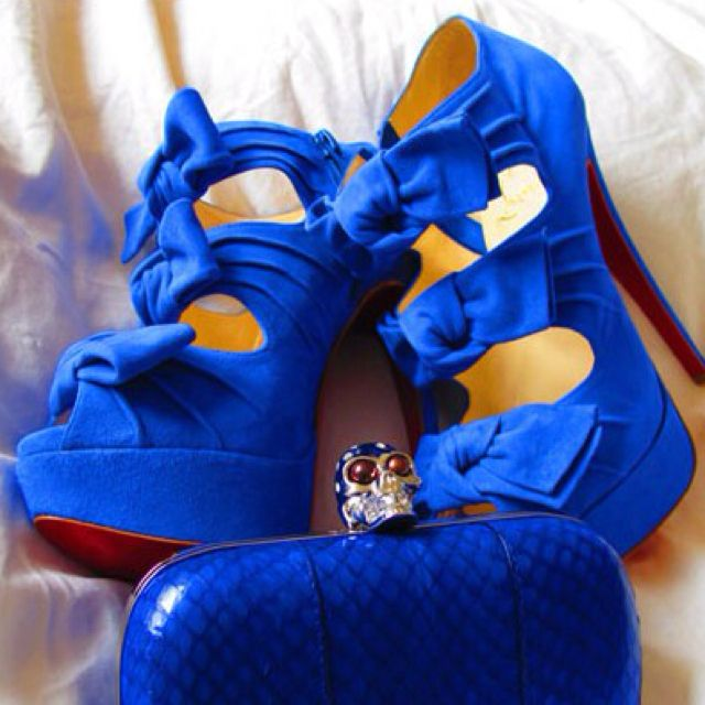 Royal blue Louboutins | Blue shoes