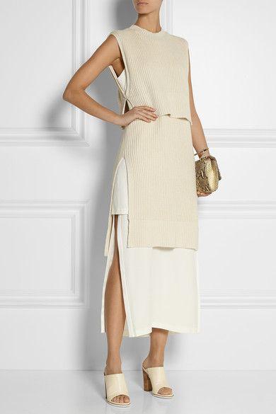 Ecru silk and cashmere-blend Slips on 55% silk, 45% cashmere Dry clean