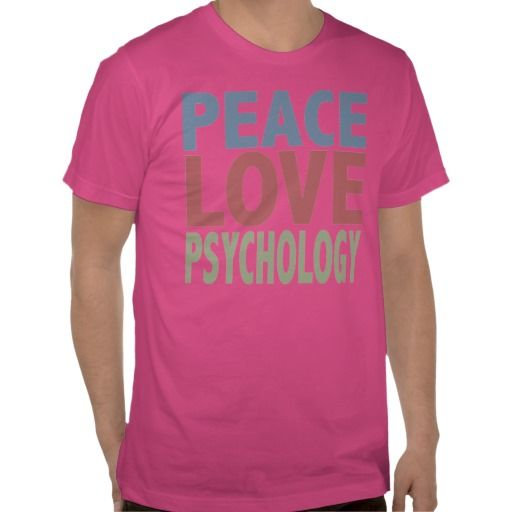 Peace Love Psychology Shirts from Zazzle.com