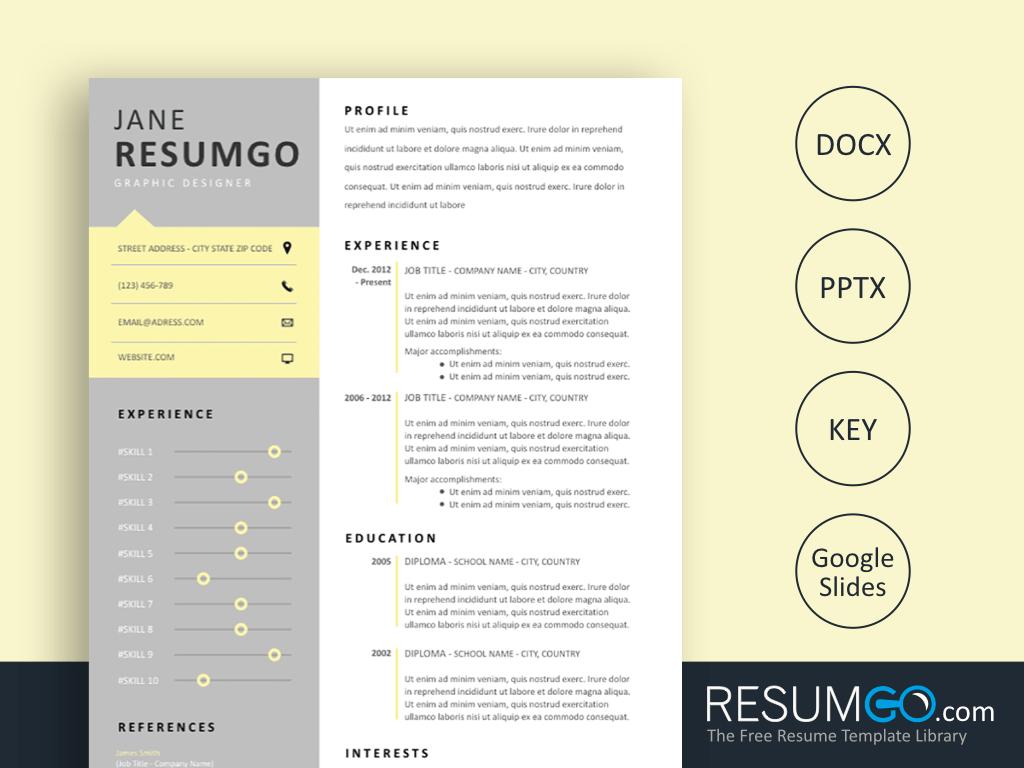 HARMONIA Clever Resume Template Resume