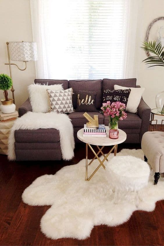 26 Insanely Cute College Apartment Living Room Ideas To Copy - By Sophia Lee