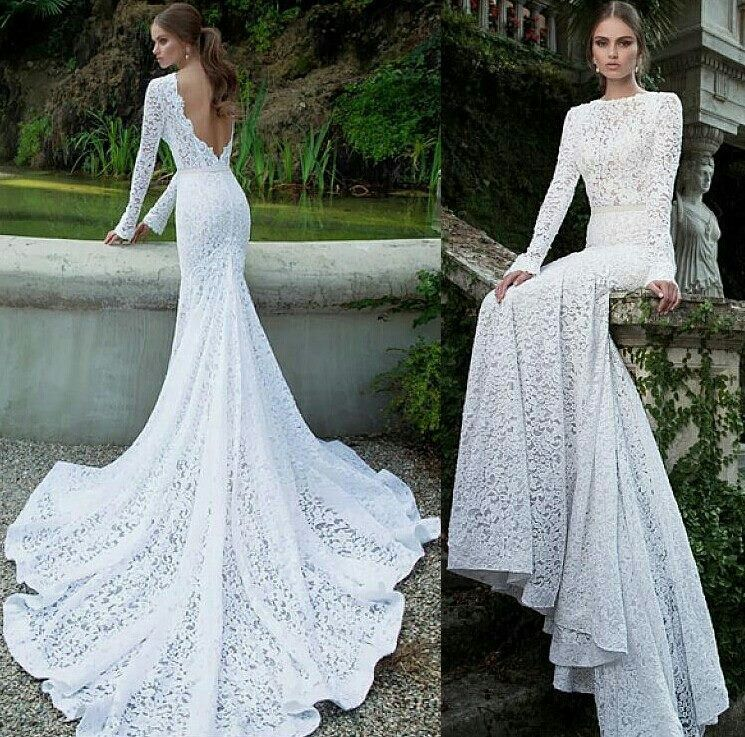 Incredibly Gorgeous White Lace Wedding Gown The Low Back Is