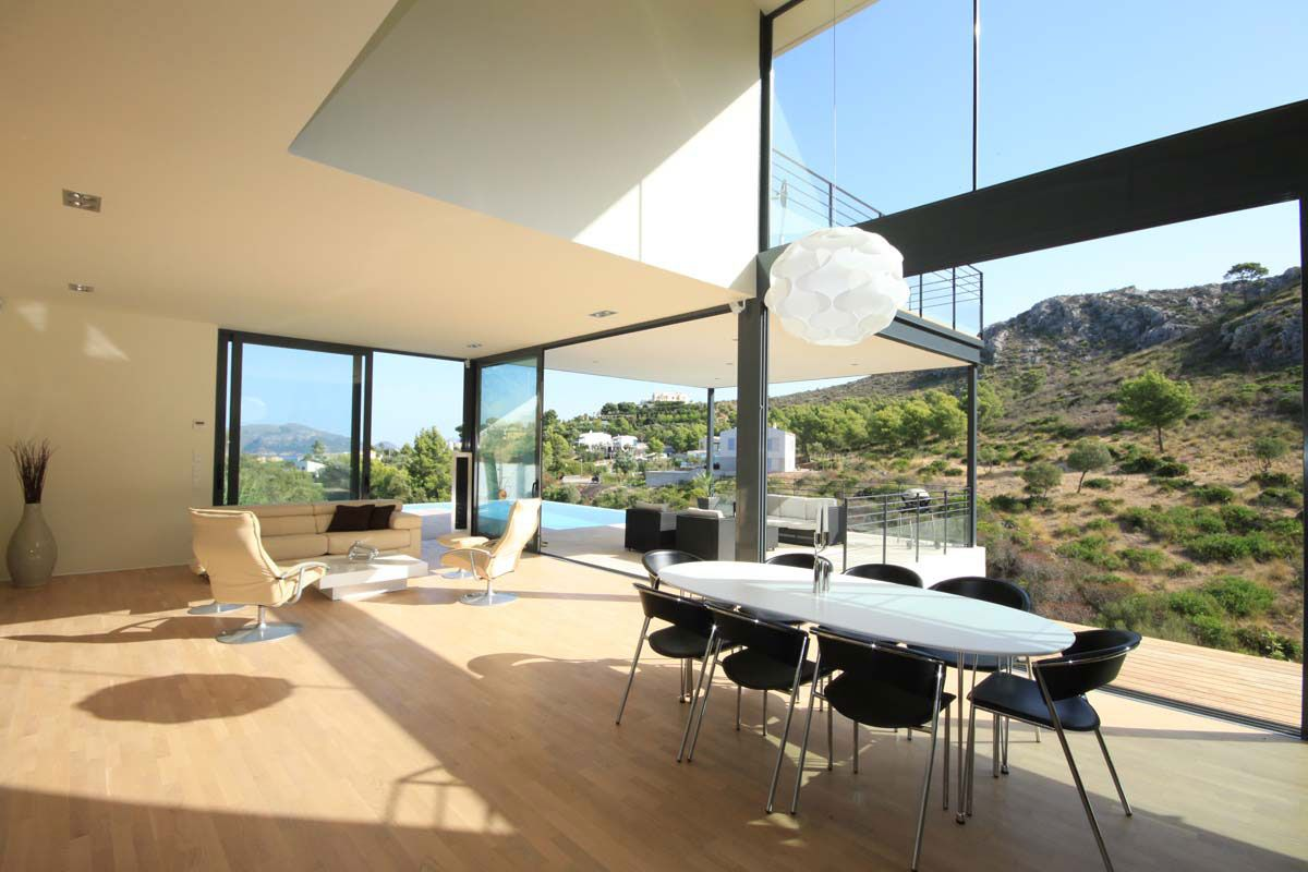 Find this pin and more on places to visit contemporary residence 2 modern villa in mallorca with generous interiors and panoramic views