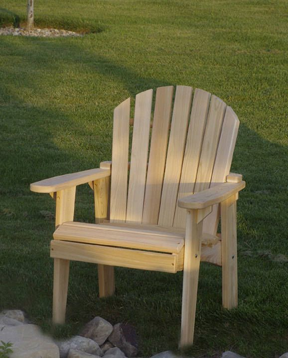 1 Adirondack Garden Chair Kit Unfinished 99 Clear Wood
