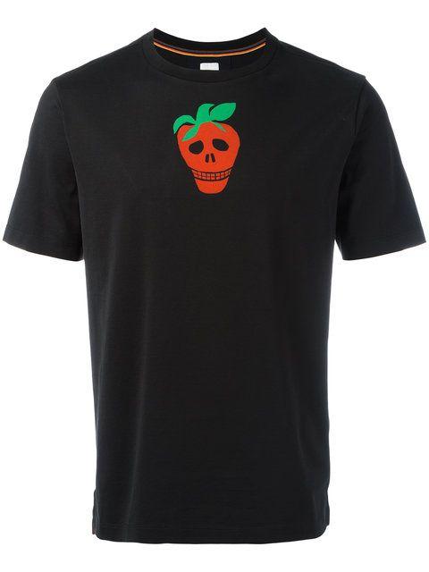 Shop Paul Smith strawberry skull T-shirt .
