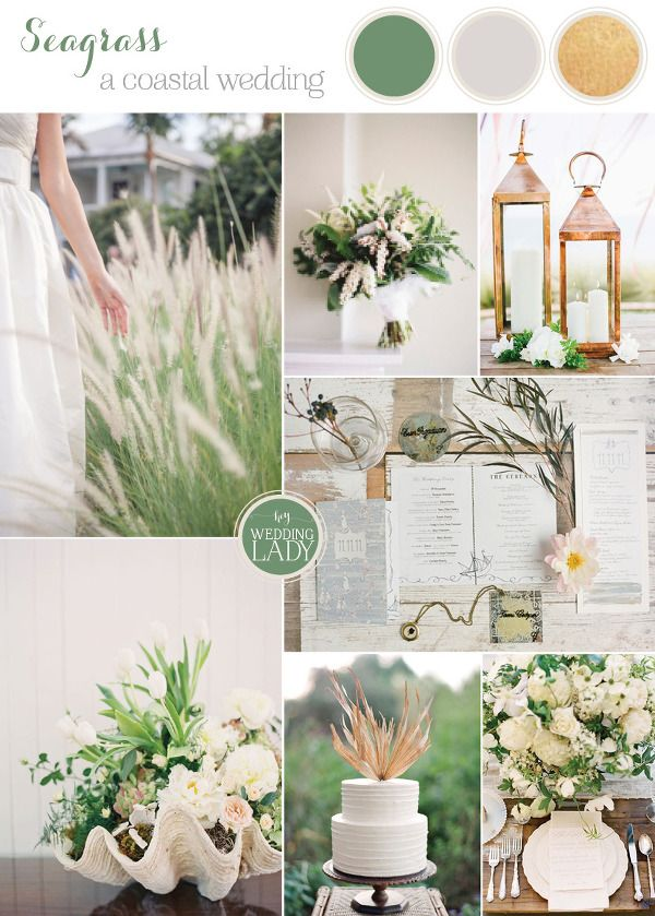 Seagrass and Bronze Summer Wedding Palette