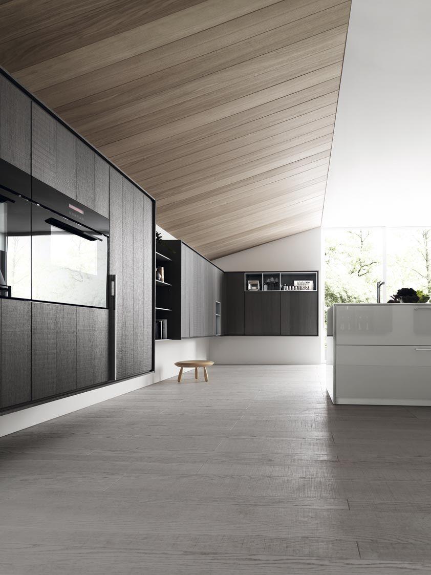 Fitted kitchen with island kalea by cesar cucine for Interior design cucine