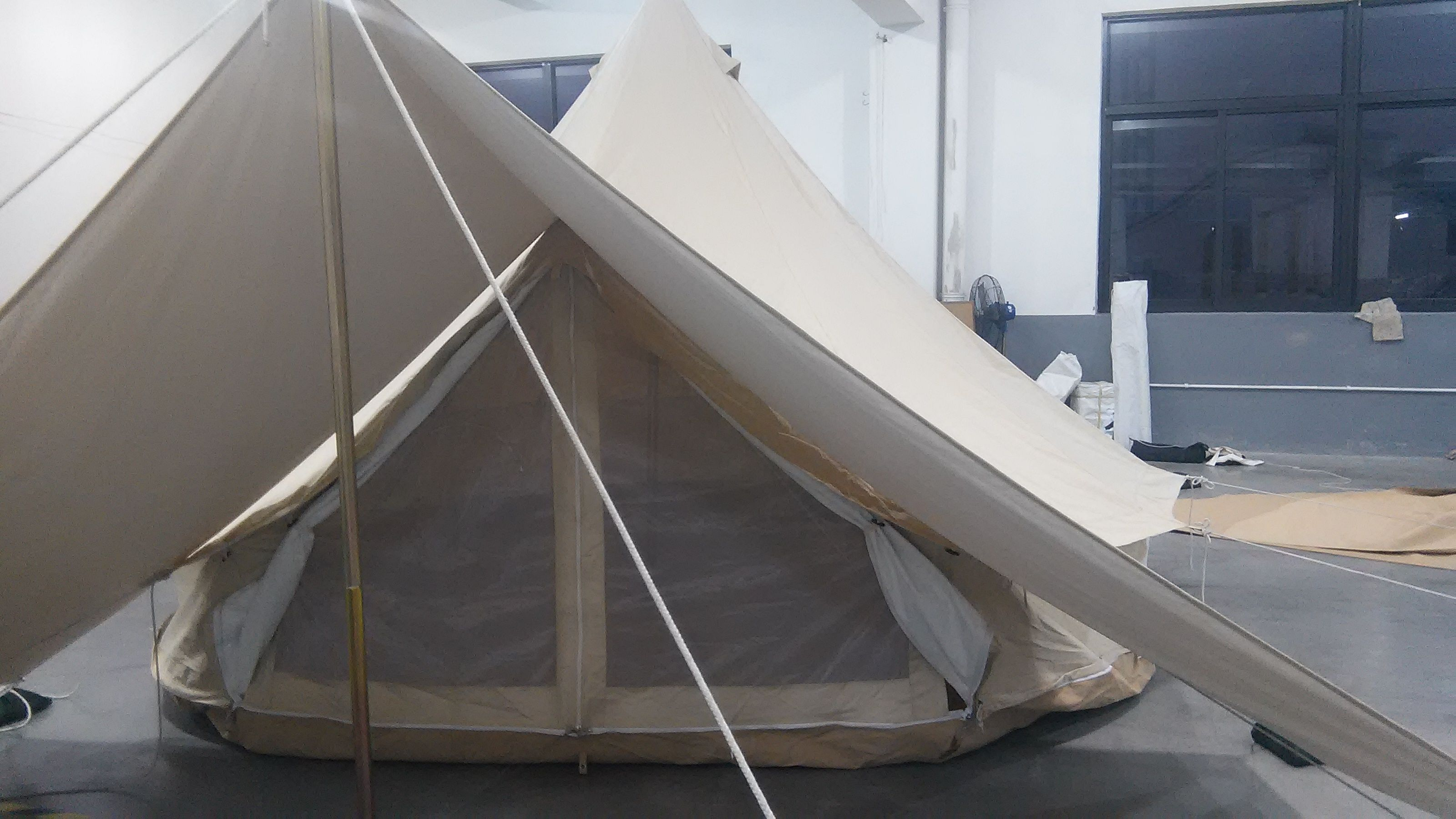 Cotton Canvas Bell Tent With Awning Canvas Bell Tent Tent Bell Tent
