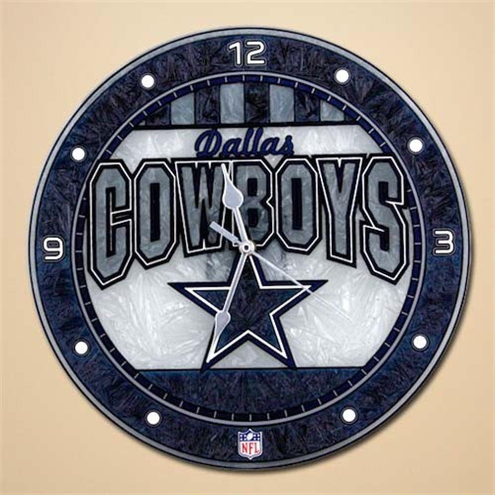 "Dallas Cowboys 12"" Art-Glass Wall Clock"