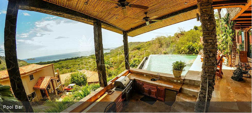 Outdoor pool bar at Casa De Los Suenos. Located in Hermosa Heights, Guanacaste Costa Rica.