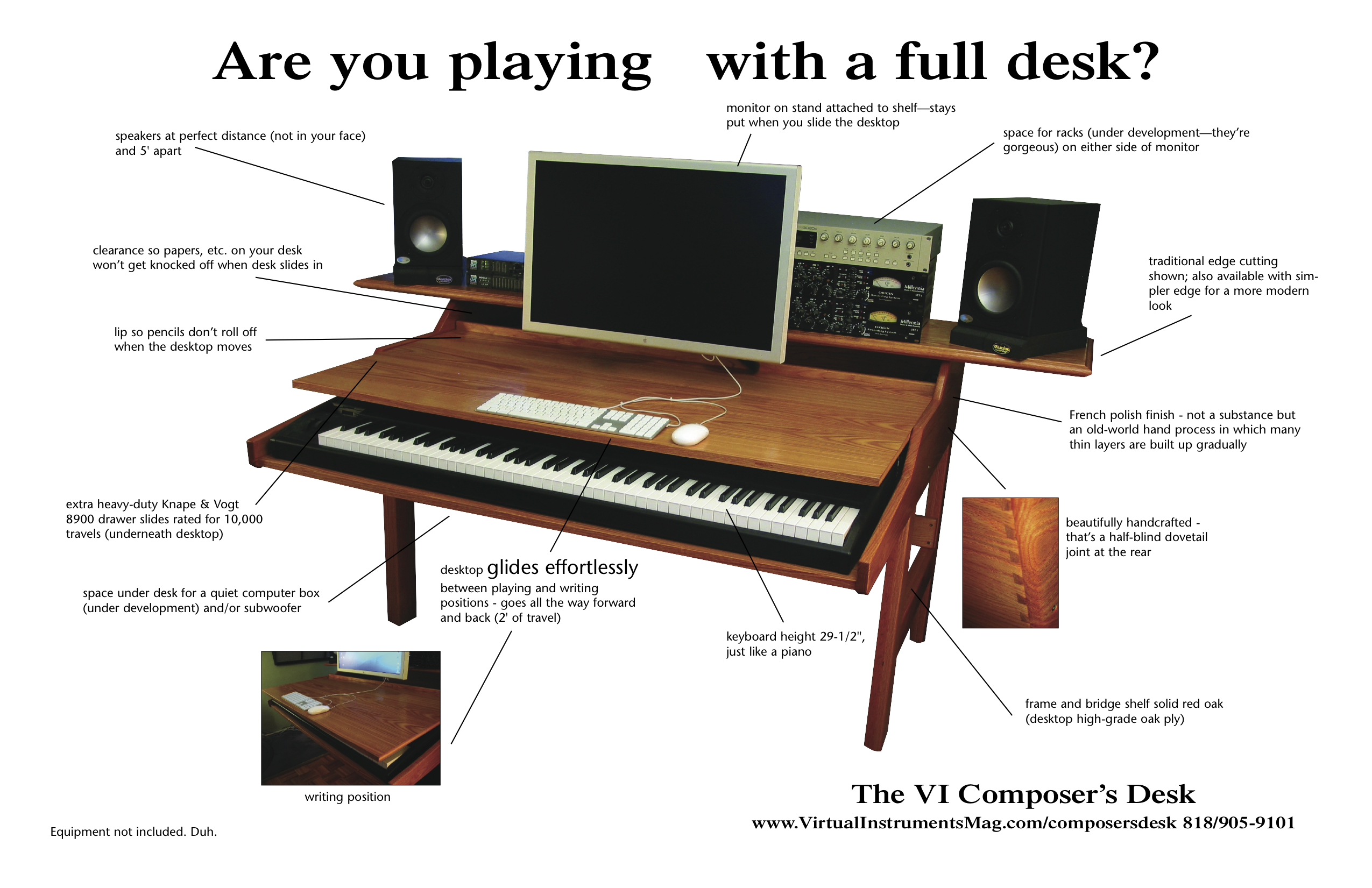 The VI poser s Desk When you want to lay down some keys you don