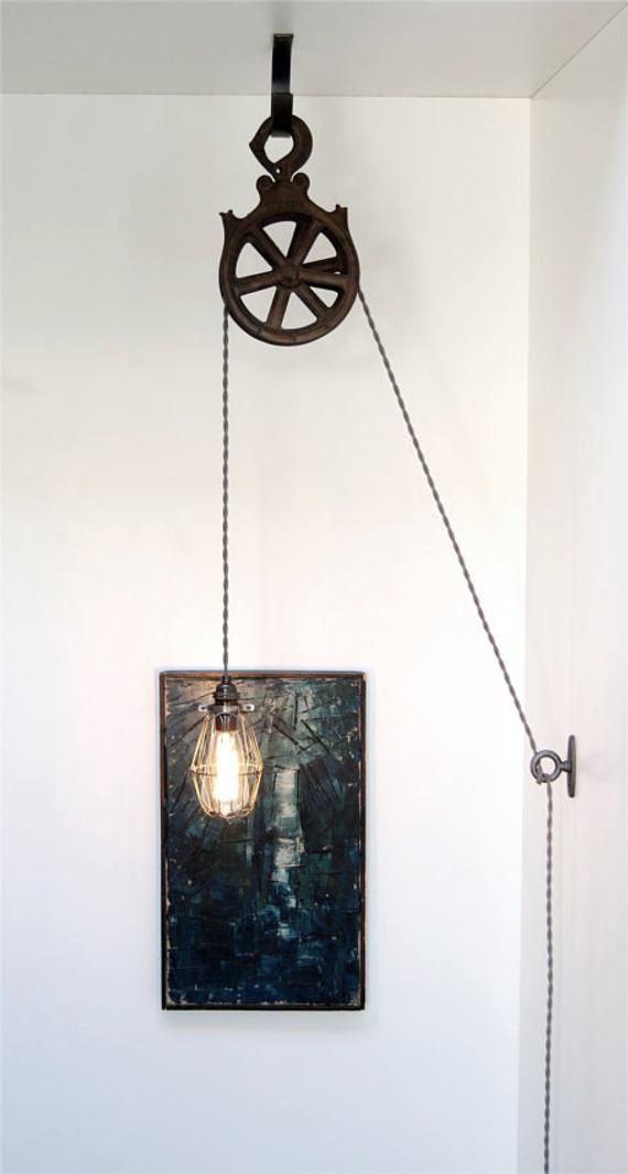 Diy Kit For Antique Cast Iron Or Wood Pulley Lamp