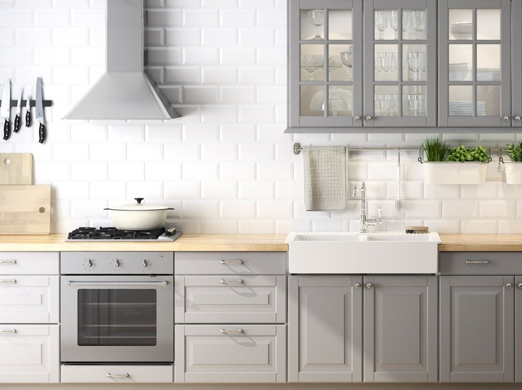 Cucina faktum con ante ante a vetro frontali cassetto - Ikea piano cucina ...