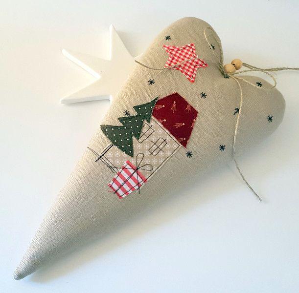 xxl herz weihnachten landhaus  nähen weihnachten
