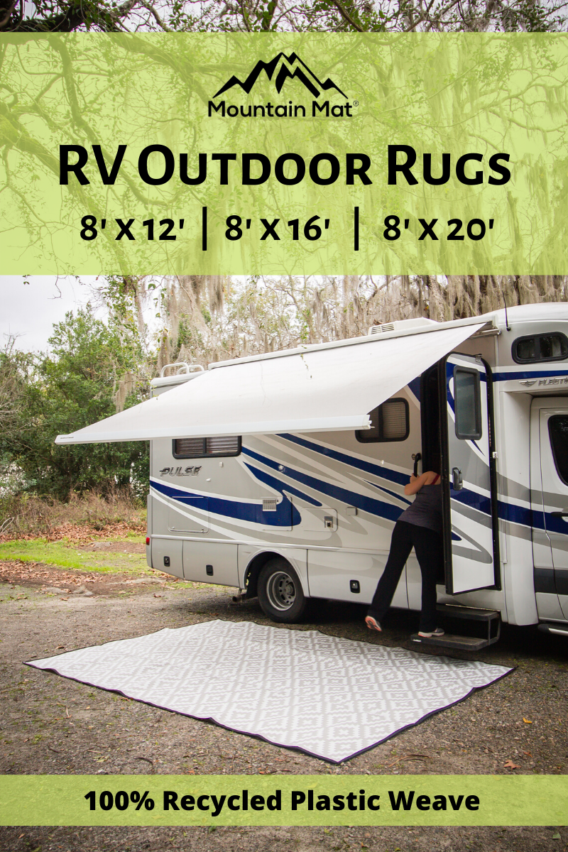 Rv Patio Outdoor Rugs In 2020 Camper Organization Travel Trailers Travel Trailer Camping Rv