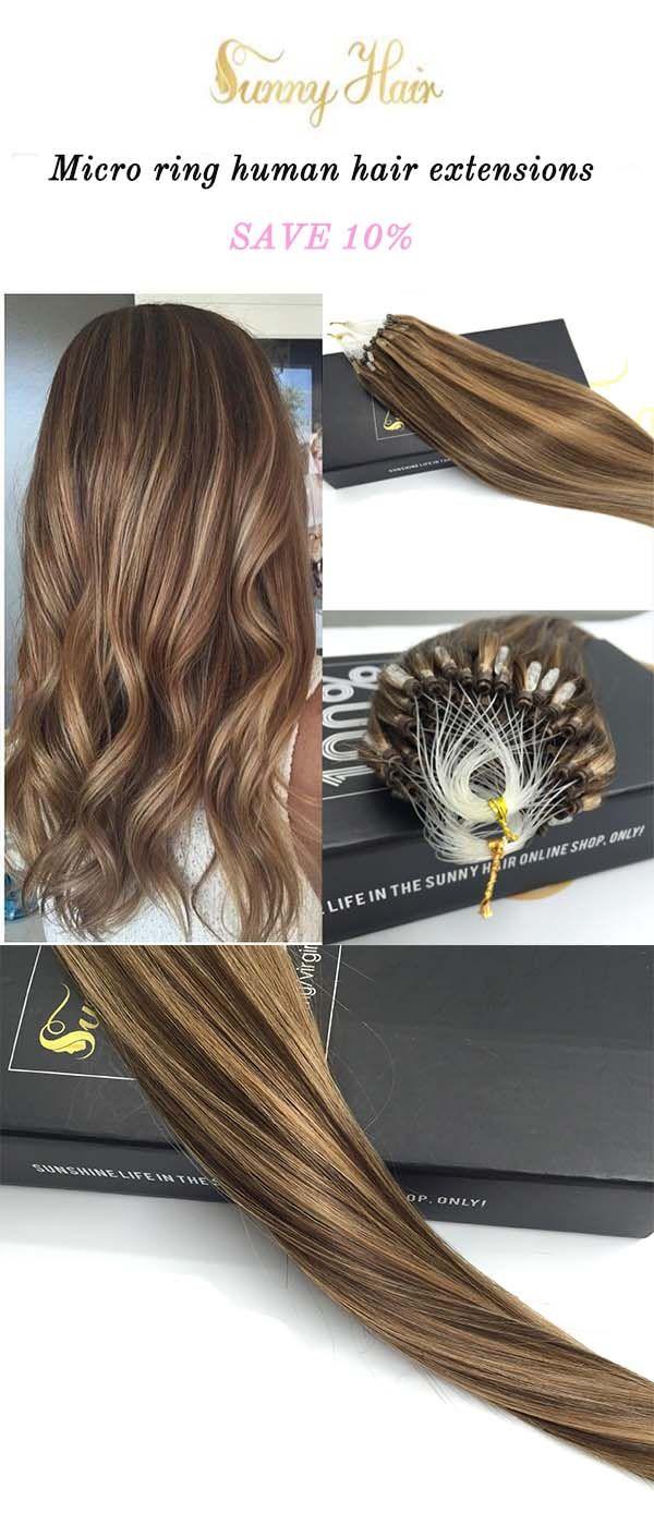 Sunny Hair Human Hair Extensions Micro Ring Loop Hair Extensions