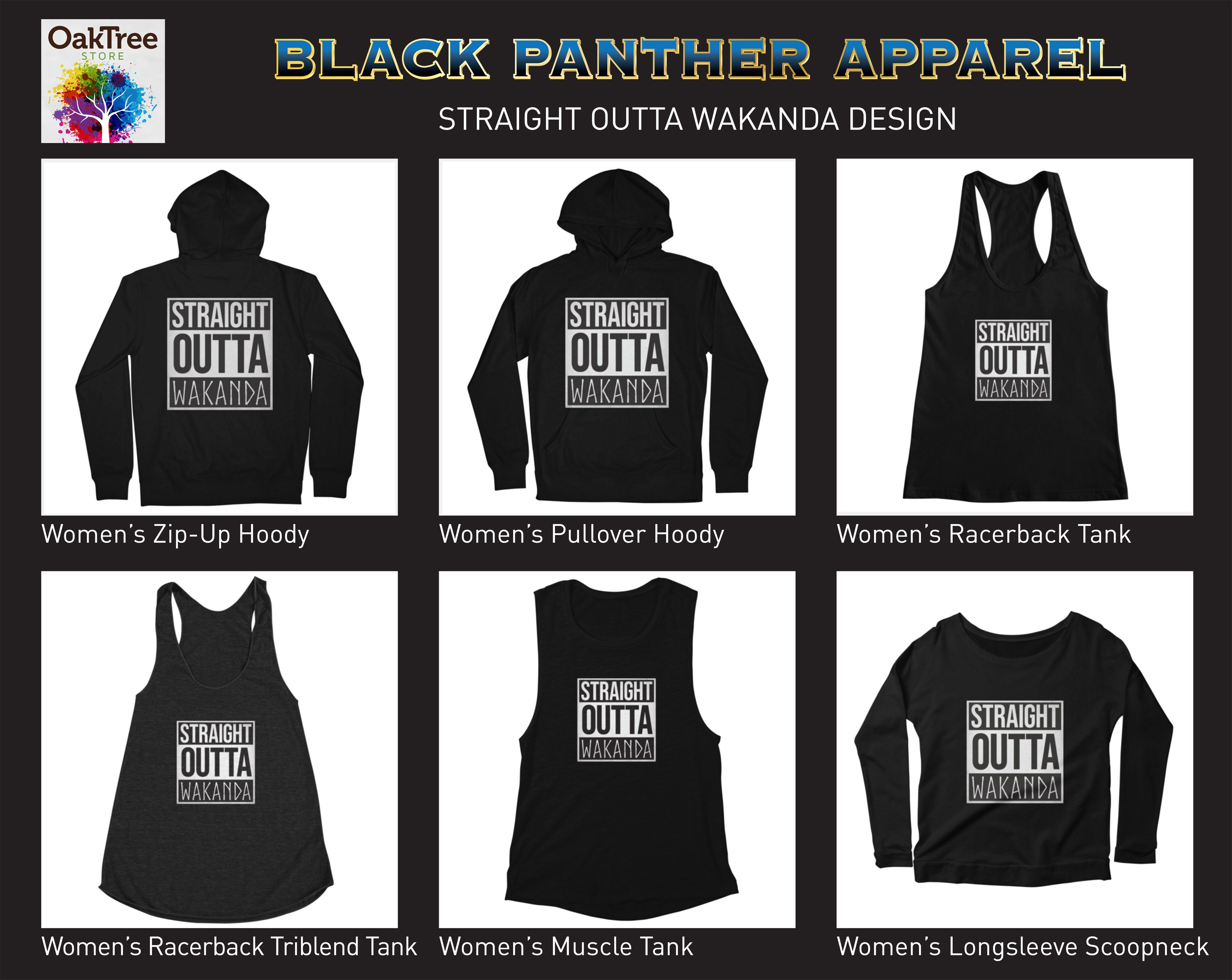 9c1843b3 Black Panther - Straight Outta Wakanda - T-shirt - Apparel ...