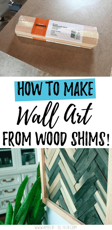 DIY Wall Art - Cheap and Easy Wall Art Using Wood Shims