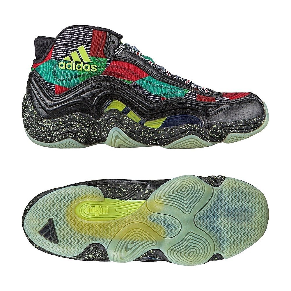 482010ab6085 ADIDAS CRAZY 2 BAD DREAMS XMAX GLOW IN THE DARK RED GREEN S83921  195
