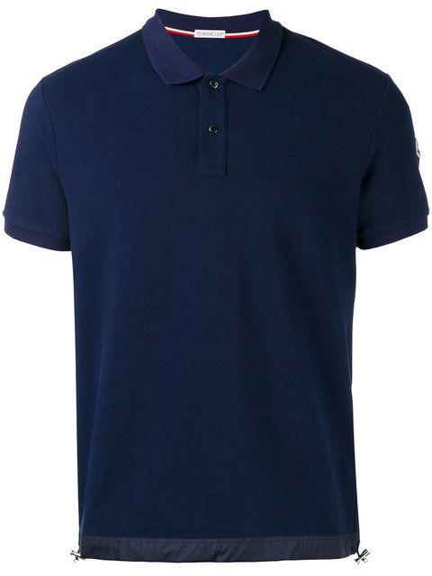 MONCLER Drawstring Hem Polo Shirt. #moncler #cloth #shirt