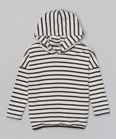 Navy Stripe Hoodie - Infant, Toddler & Kids #zulily #zulilyfinds