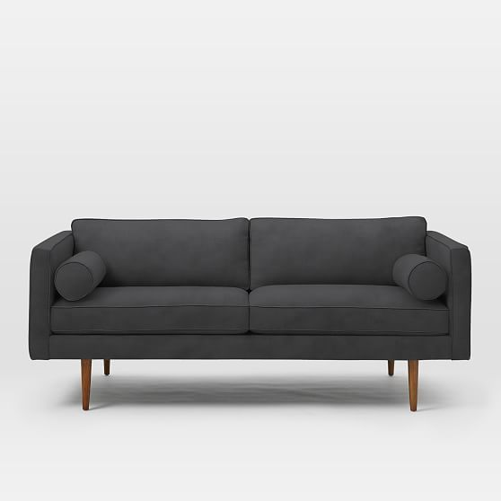 Fine Monroe Mid Century Loveseat Performance Velvet Shadow At Caraccident5 Cool Chair Designs And Ideas Caraccident5Info