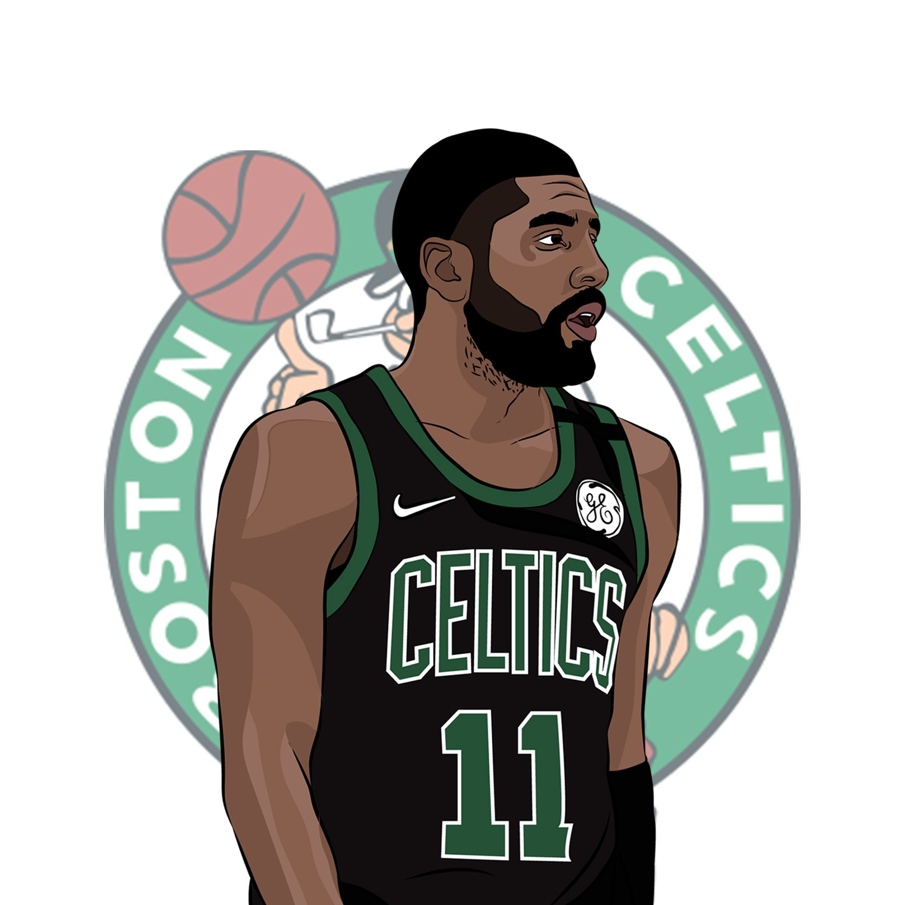 Kyrie Irving Illustration By Me Kyrie Irving Nba Quotes Nba Wallpapers