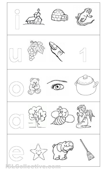 Colorear las vocales  Actividades para nios  Pinterest