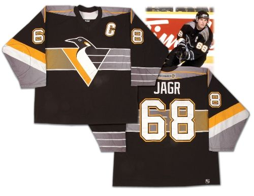 a62d363ab03 Old school Jagr Penguins Jersey